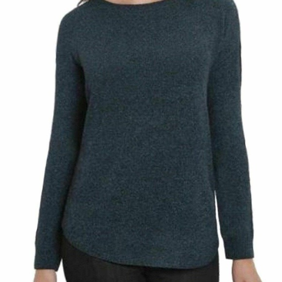 Ellen Tracy Deep Ocean Tweed Sweater New with Tags